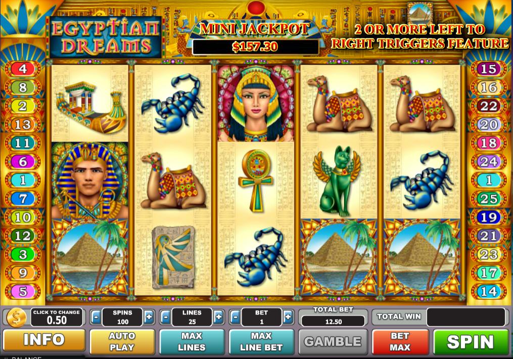 Egyptian Slots Bonus 79160